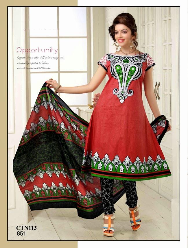 e72d51a5cc Latest Printed Churidar Dress Material