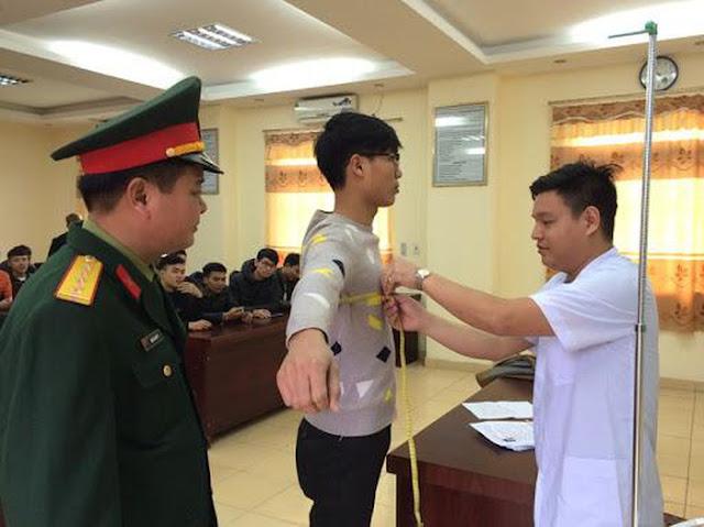 Tiêu chuẩn về sức khỏe của thí sinh dự tuyển vào các trường quân đội