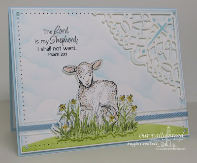 ODBD The Shepherd, ODBD Custom Little Lamb Die, ODBD Custom Decorative Corners Dies, Card Designer Angie Crockett