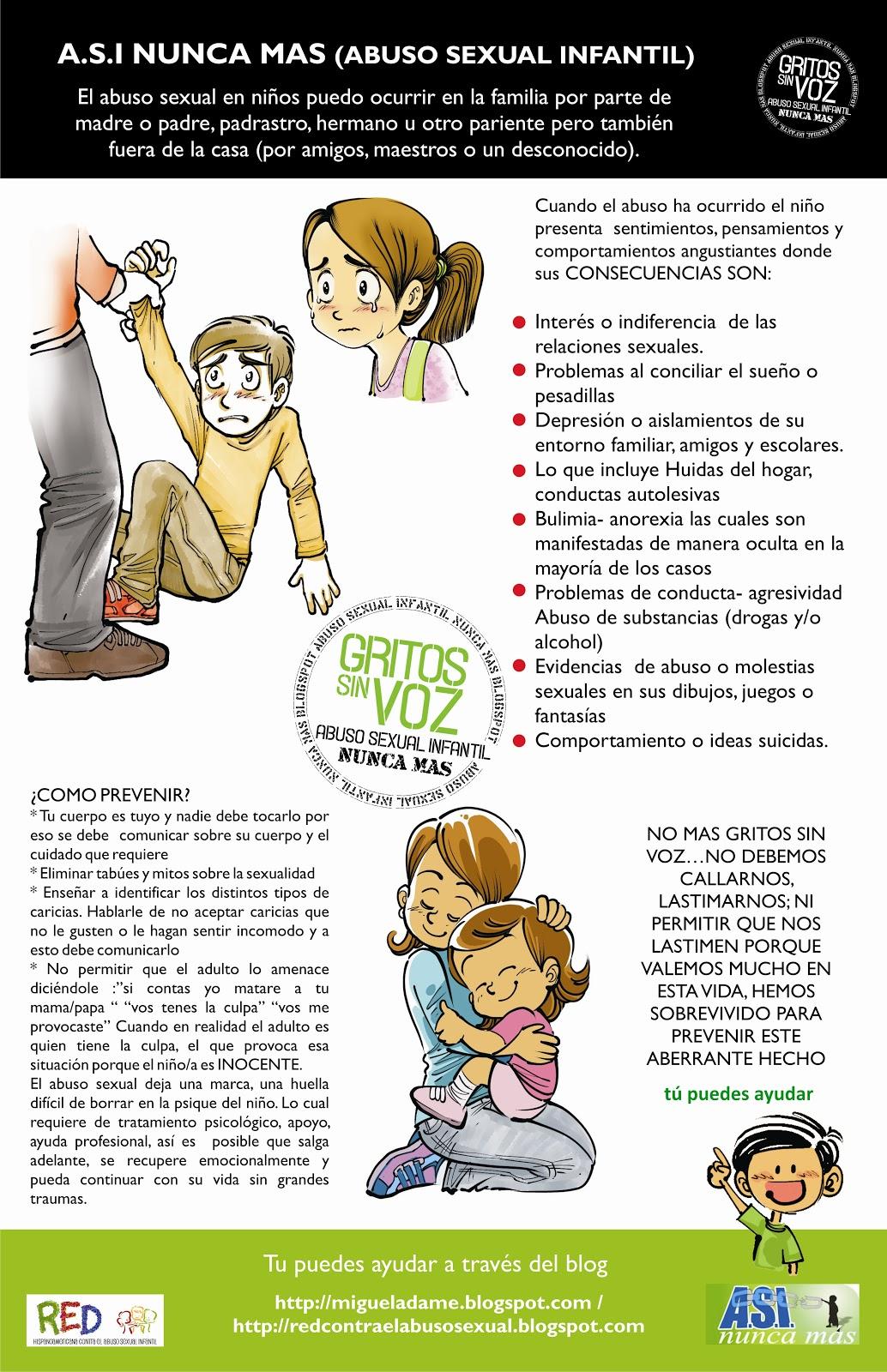 abuso sexual infantil y sus consecuencias en la vida adulta Las consecuencias psicológicas que se han relacionado con la experiencia de abuso sexual infantil pueden perdurar a lo largo del ciclo evolutivo y configurar, en la edad adulta, los llamados efectos a largo plazo del abuso sexual.