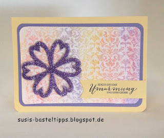 grusskarte mit stampin up in resist aquarell technik mit stempelset schmetterlingsgruß