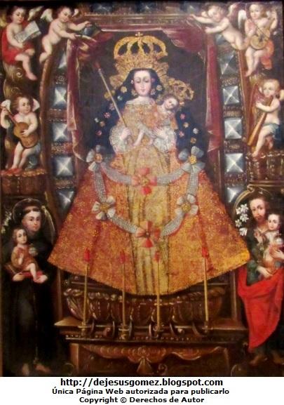 Imagen de la Virgen de Copacabana, hecha en Óleo sobre tela por un cusqueño (Anónimo) - Museo de Arte de Lima. Foto de virgen por Jesus Gomez