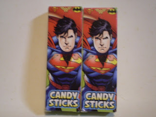 Front of Superman Candysticks box version 2