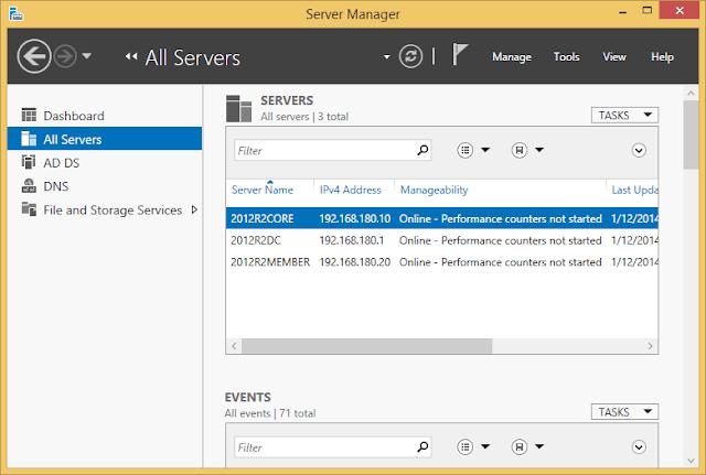 RSAT في نظام التشغيل Windows Server 2012 R2