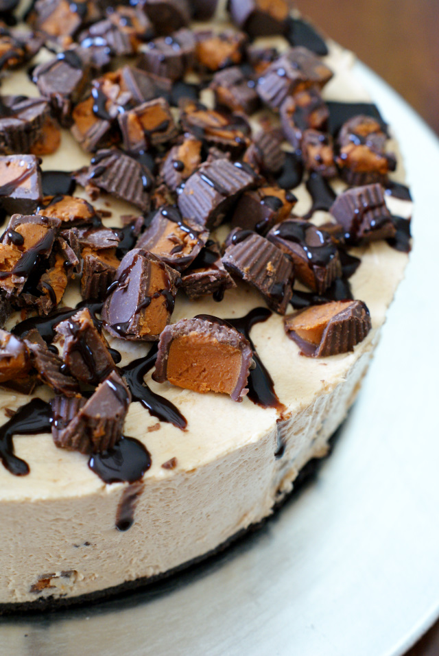 This Peanut Butter Cup Overload No Bake Cheesecake Is For Serious Peanut Butter Lovers Only