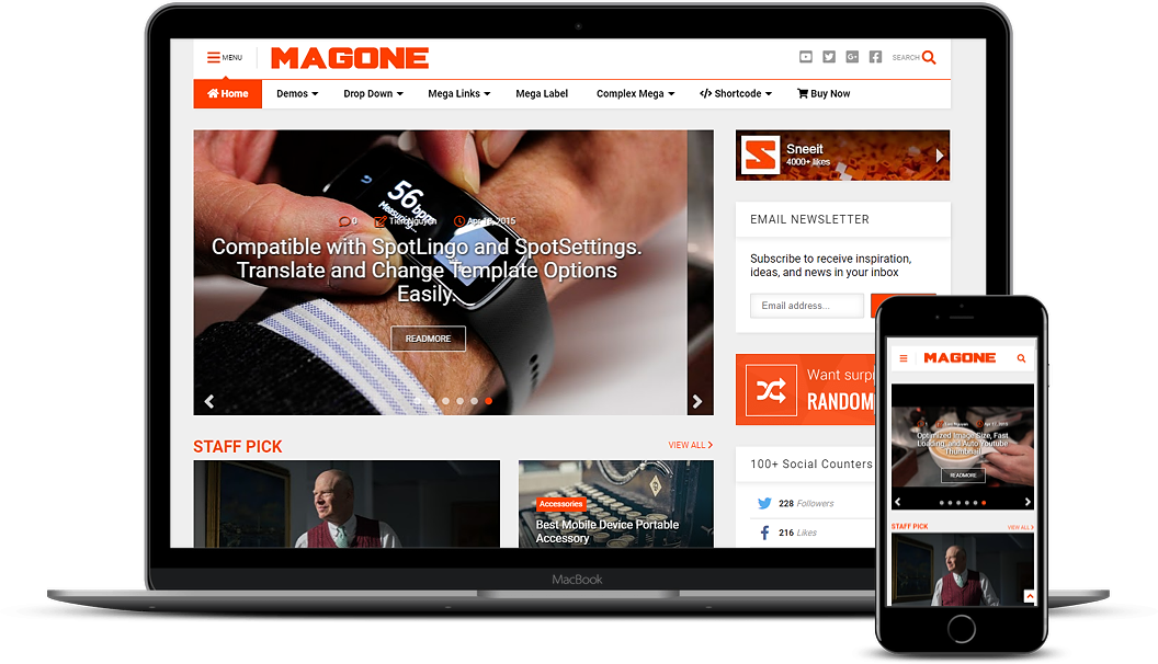 Mag One Blogger Template
