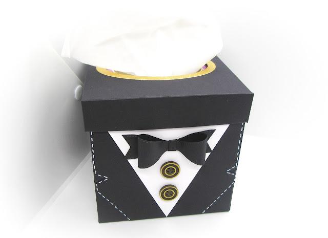 Tuxedo tissue box