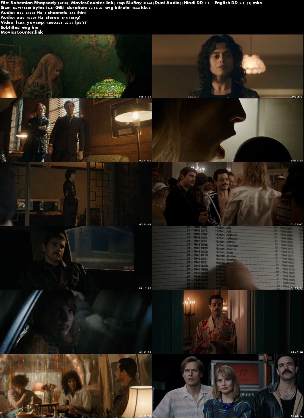 Screen Shots Bohemian Rhapsody 2018 Hindi HD 720p