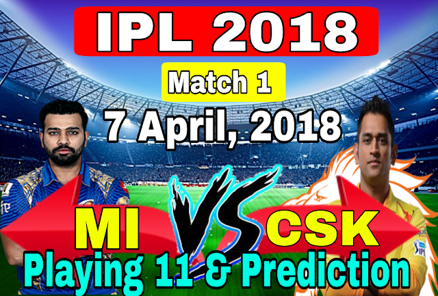Mumbai Indians vs Chennai Super Kings Playing 11 and Team Prediction