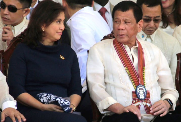 President Rodrigo Duterte and Vice President Leni Robredo.