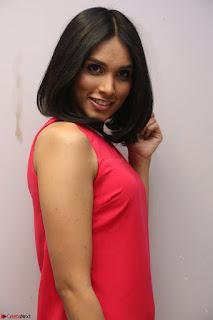 Spatika Surapaneni in Red Tight Dress at FBB Miss India 2017 finalists at Telangana auditions Feb 2017 (38).JPG