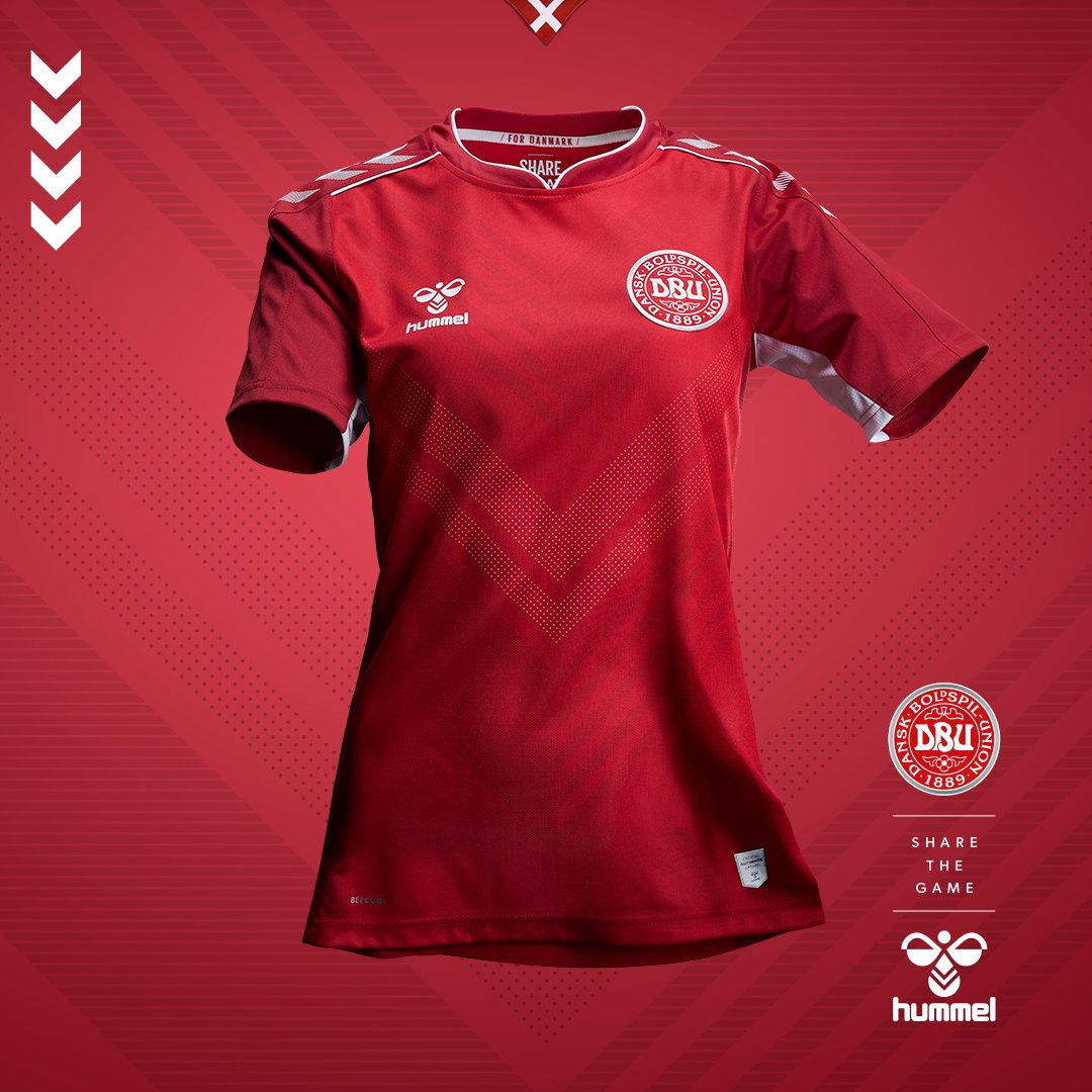 1a78f542e4620 Hummel lança as camisas da seleção feminina da Dinamarca - Show de ...
