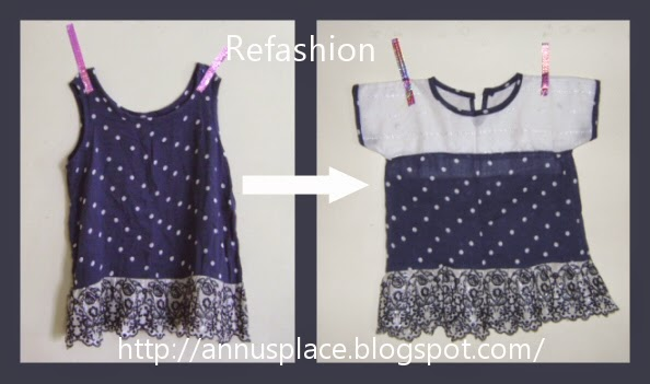 Girls' top Refashion