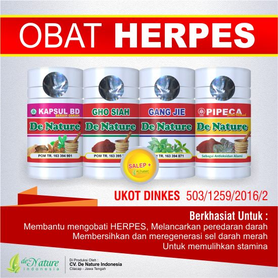 Obat Herpes de Nature | Jual Herbal Asli