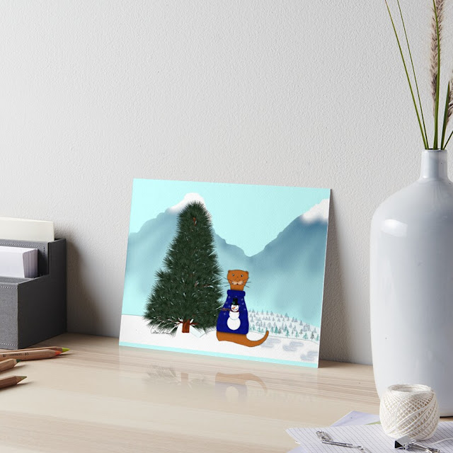 Oliver Finds His Christmas Tree Art Board Print