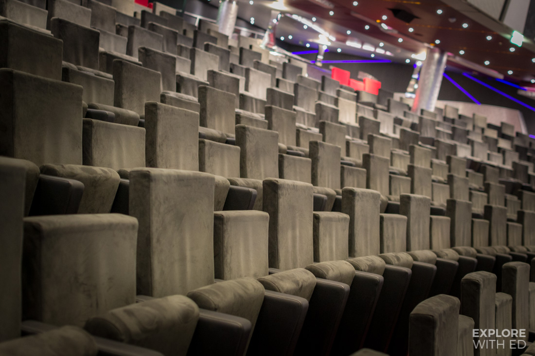 The Platinum Theatre seating on MSC Preziosa