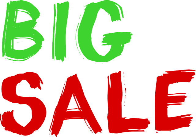 It easy to promote your sale or promo when you use signs to catch the attention of the customers