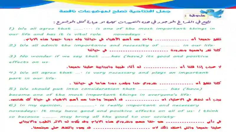 احترف كتابة المقال او البراجراف 2021 مع مستر محمد عبدالجابر