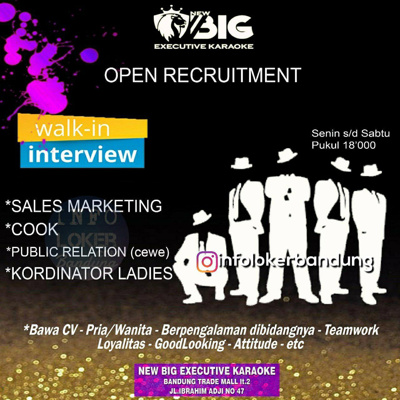 Walk In Interview Part 2 New BIg Executive Karaoke Bandung Juli 2018