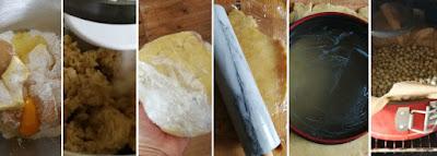 Cheesecake mit Marzipanboden und Jostabeeren - Zubereitung Mürbeteig mit Marzipan