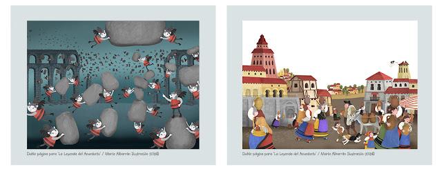The Legend of the Aqueduct - Maria Albarran Illustration