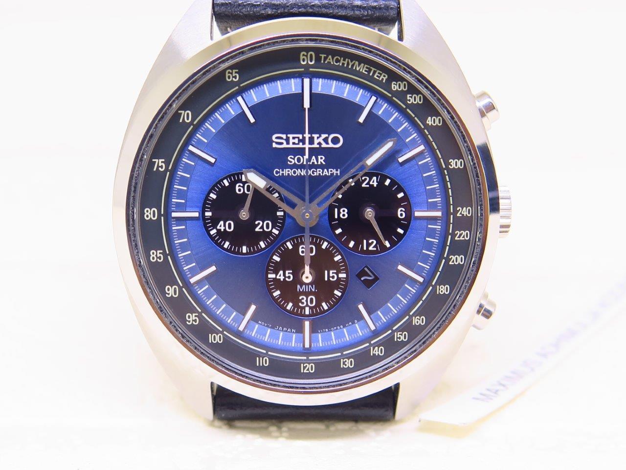 SEIKO SOLAR CHRONOGRAPH BLUE DIAL - SEIKO SSC625P1