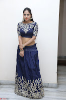 Ruchi Pandey in Blue Embrodiery Choli ghagra at Idem Deyyam music launch ~ Celebrities Exclusive Galleries 026.JPG