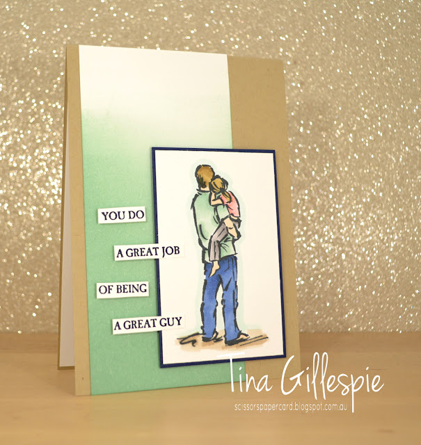 scissorspapercard, Stampin' Up!, Art With Heart, Colour Creations, A Good Man, Sponge Brayer, Stampin' Blends, Masculine Card