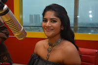 Mega Akash in a sleeveless Off Shoulder Cute Dress Stunnign beauty at Radio Mirchi Promoting Movie LIE ~ Celebrities Galleries 004.JPG