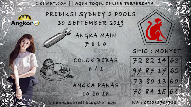 PREDIKSI SYDNEY 2 POOLS 30 SEPTEMBER 2019