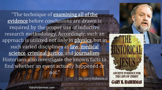 "Quote from Gary Habermas from his book ""The Historical Jesus: Ancient Evidence For The Life of Christ""- ""The technique of examining all of the evidence before conclusions are drawn is required by the proper use of inductive research methodology. Accordingly, such an approach is utilized not only in physics, but in such varied disciplines as law, medical science, criminal justice, and journalism. Historians also investigate the known facts to find whether an event actually happened or not."" #History #Jesus #Christianity #Evidence #Religion #God"