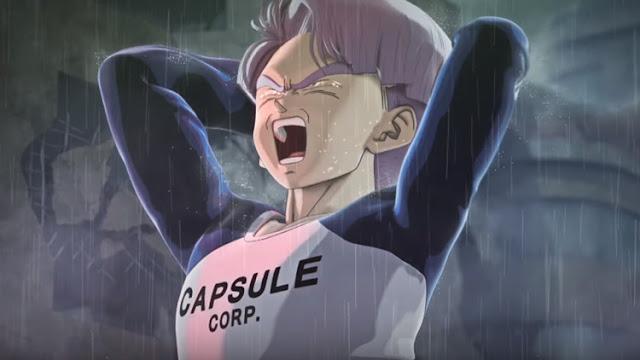 A icônica cena do futuro de Trunks, onde após a morte de Gohan, o mesmo se transforma em Super Sayajin