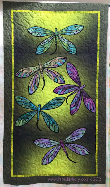 Pauline's Hoffman Dragonfly Quilt