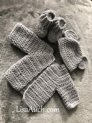 crochet baby hat with ears newborn