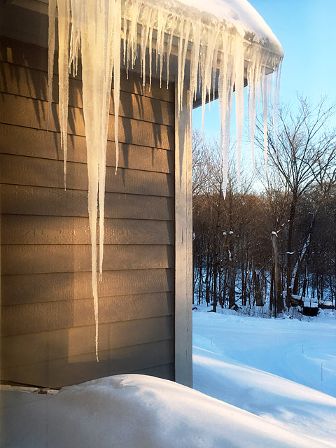 icicles minnesota cold winter