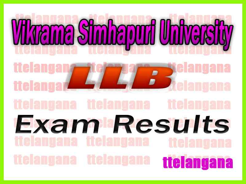 Vikrama Simhapuri University LLB  Exam Results