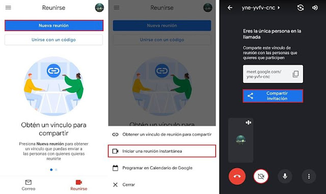 Gmail videollamadas Android