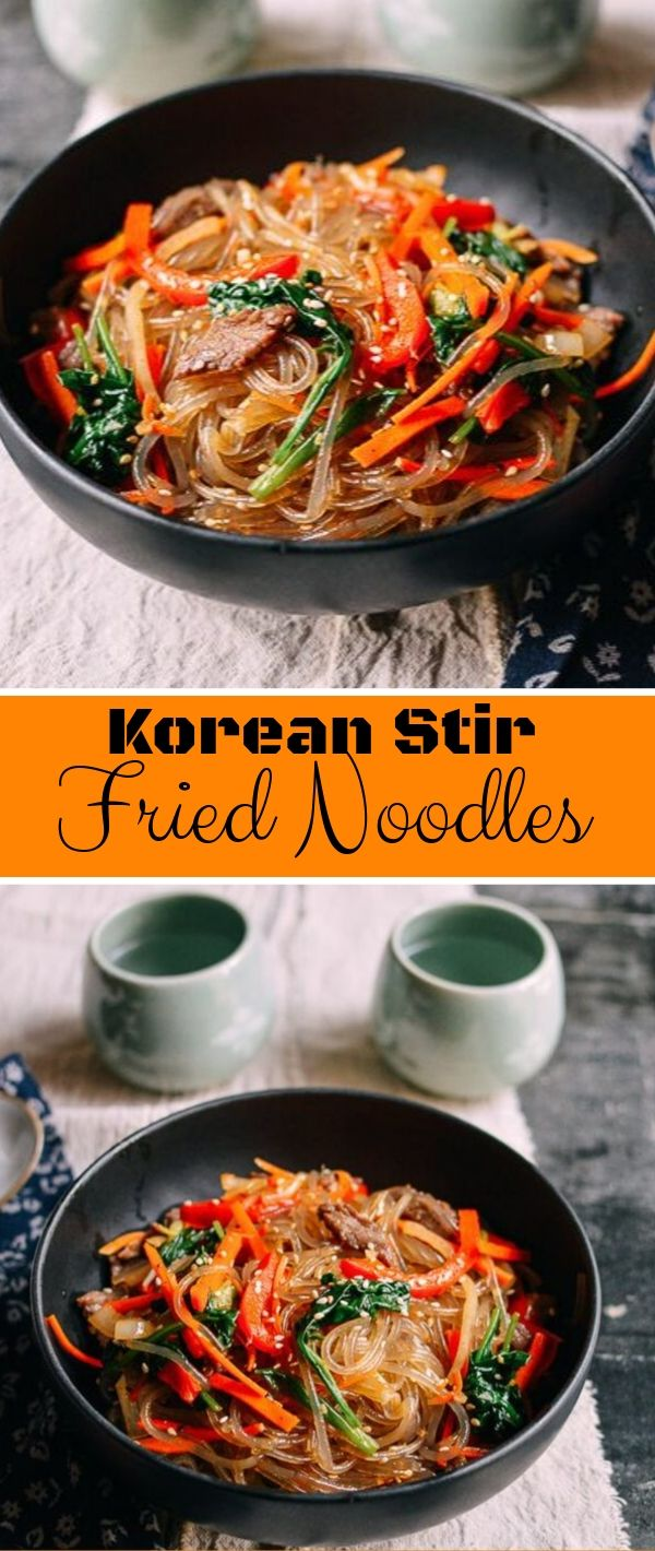 Korean Stir Fried Noodles #Korean #Stir #Fried #Noodles Healthy Recipes Easy, Healthy Recipes Dinner, Healthy Recipes Best,