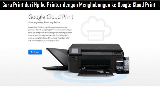 Cara Print dari HP ke Printer