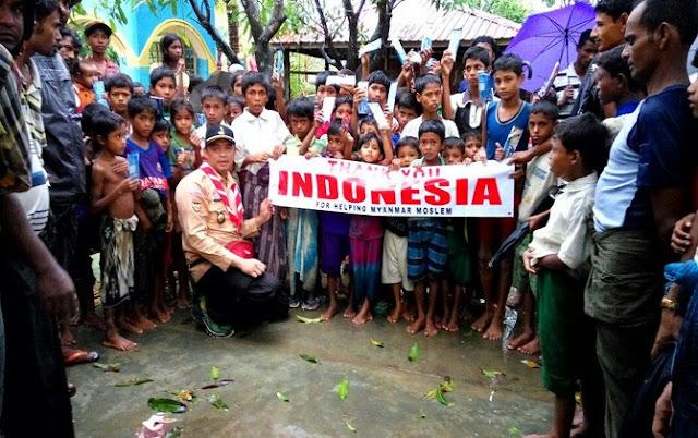 Pramuka Tembus Tiga Lokasi Pengungsian Rohingya