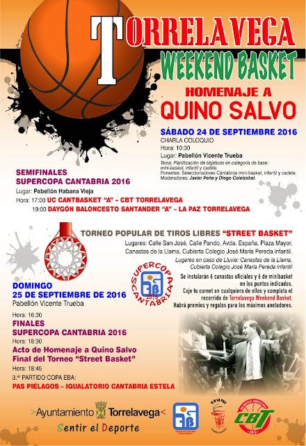 Torrelavega Weekend Basket: Homenaje a Quino Salvo