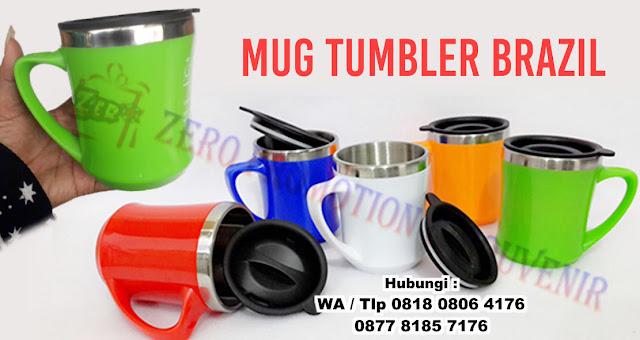 tumbler mug gagang, salah satu modelnya adalah mug brazil atau bisa disebut juga mug brazil mug custom logo, MUG TUMBLER BRAZIL, Mug Promosi Brasil, Gelas Promosi Brazil, Tumbler Promosi, tumbler brazil mug, Tumbler Mug Gagang