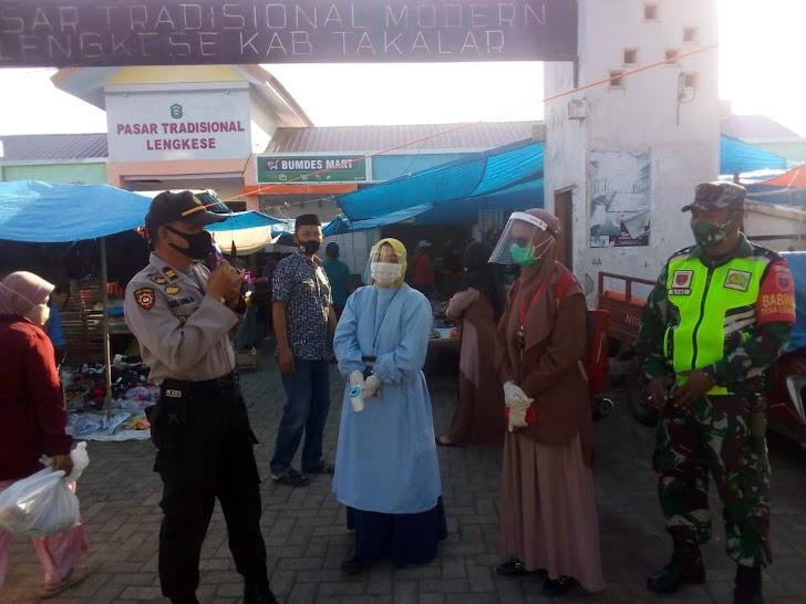 Hadirkan 3 Pilar Dalam Himbauan Cegah Virus Covid-19 Di Lokasi Pasar