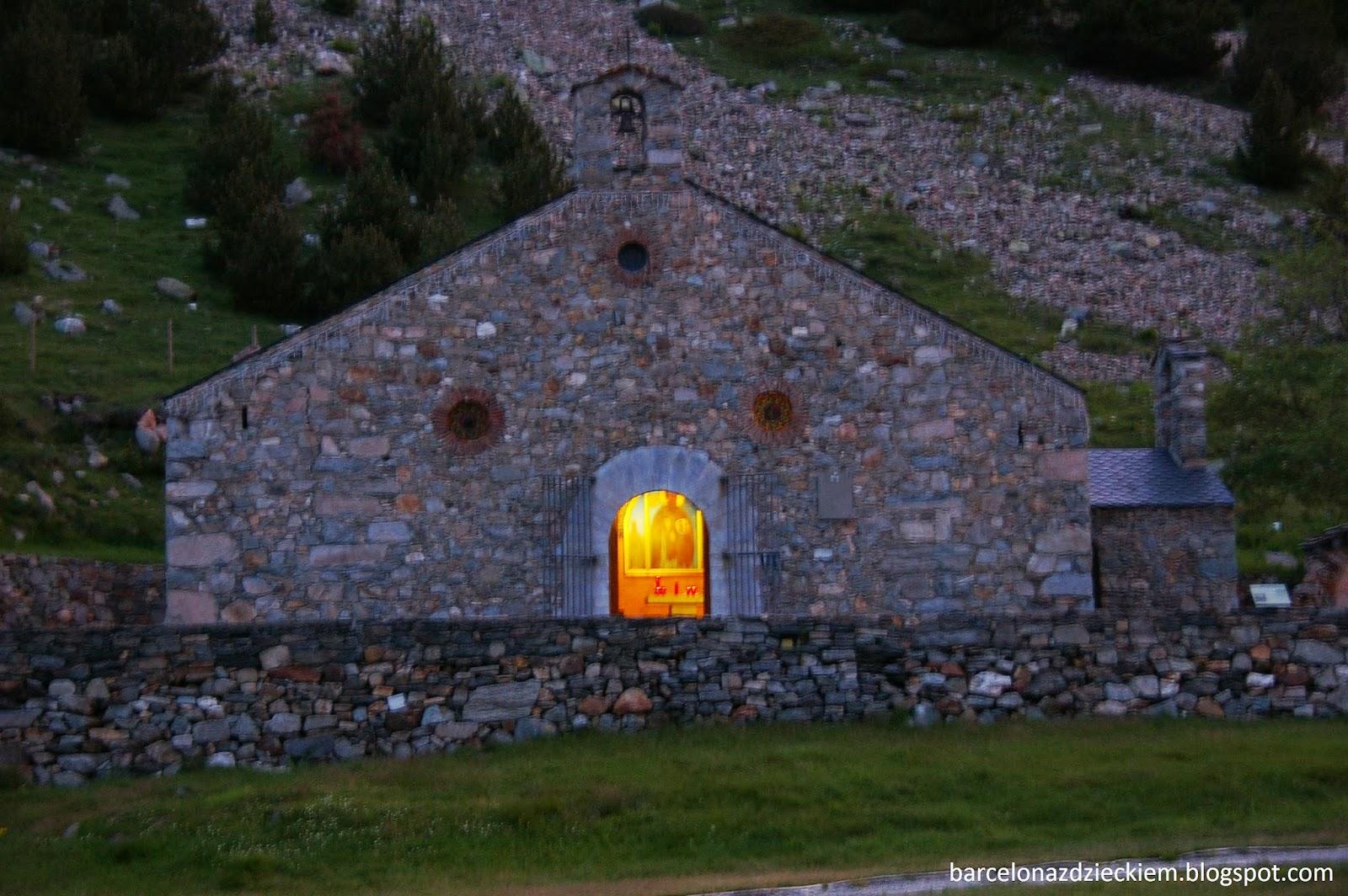 Vall de Nuria z dzieckiem