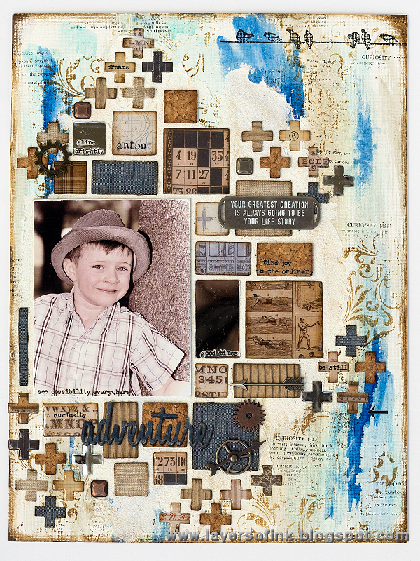 Layers of ink - Mosaic Mixed Media Board Tutorial by Anna-Karin