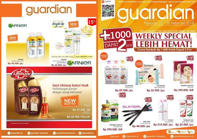 Katalog Promo GUARDIAN Weekly Specials Periode 22 - 28 Februari 2018