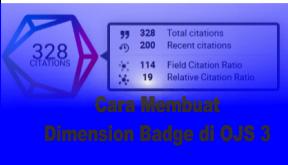 Cara Membuat Dimension Badge di OJS 3