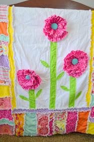 Ruffle Flower Rag Quilt