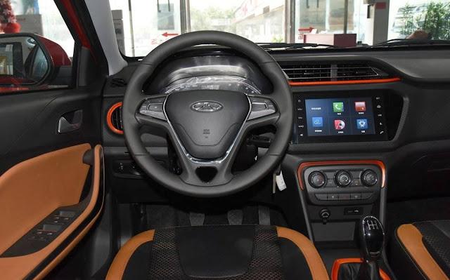 Novo Chery Tiggo 3x 2017 - interior - painel