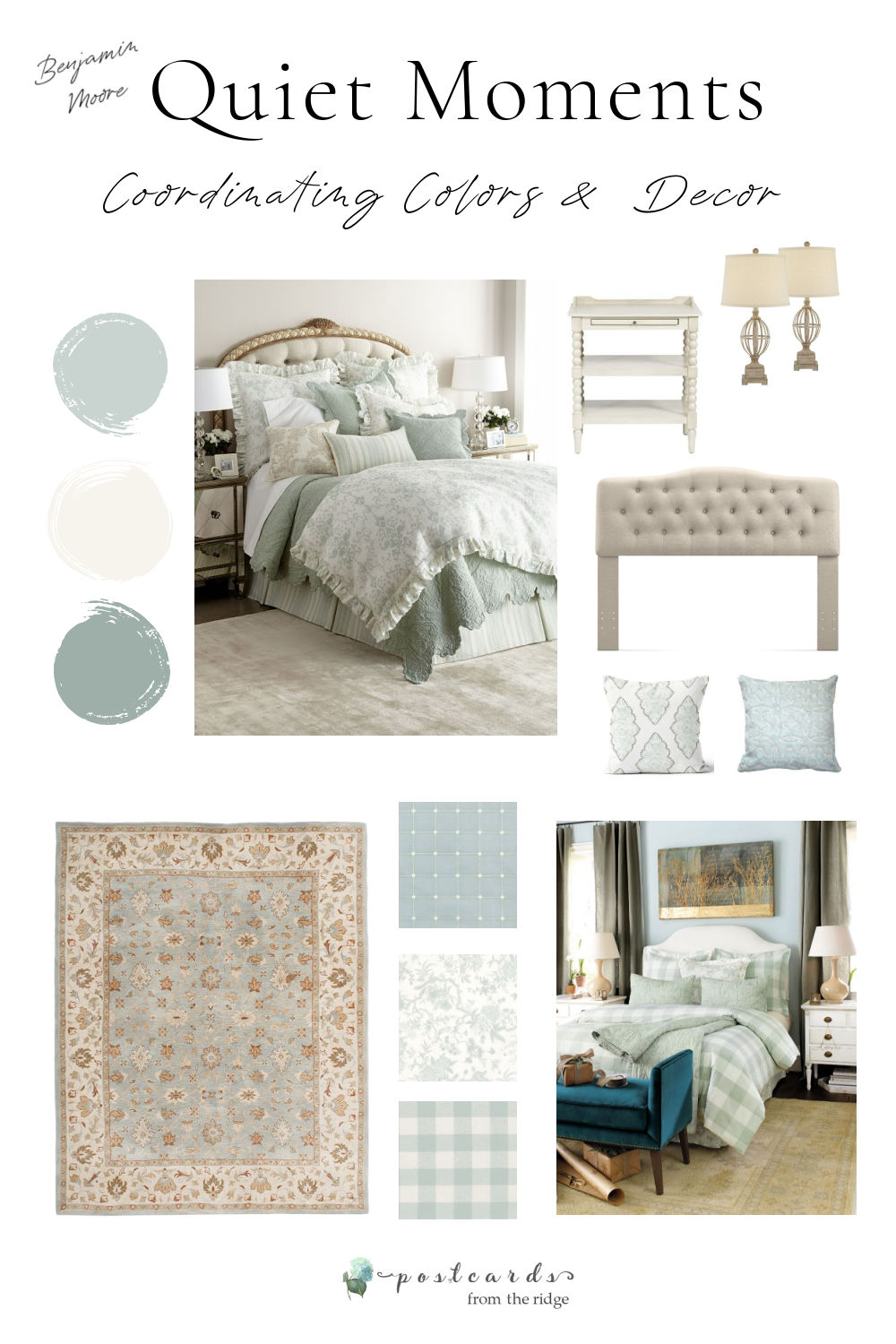 quiet moments paint swatch and accessories